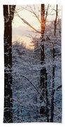 Abstract Winter Sunset Bath Towel