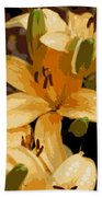 Abstract Yellow Asiatic Lily - 2 Bath Towel
