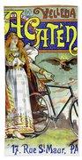 Ad Bicycles, 1898 Bath Towel