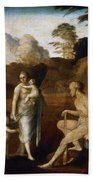 Adam And Eve With Cain And Abel Bath Towel
