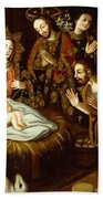 Adoration Of The Sheperds Bath Towel