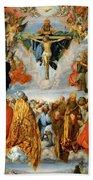 Adoration Of The Trinity  Bath Towel