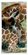 Adult Reticulated Giraffe Bath Towel