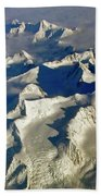 Aerial Ice Fields Bath Towel