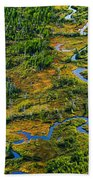 Aerial Of A Wetland, Over Northern Bath Towel
