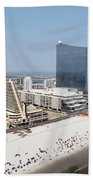 Aerial Of Downtown Atlantic City Bath Towel