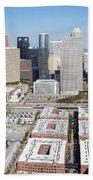 Aerial Of The Houston Skyline Bath Towel