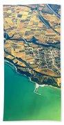 Aerial Photography - Italy Coast Bath Towel