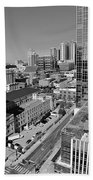 Aerial Photography Downtown Nashville Bath Towel