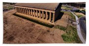 Aerial Photography Of The Parthenon Hand Towel