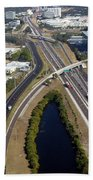 Aerial View Of City Of Tampa Bath Towel