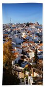 Aerial View Of Comares Village, One Hand Towel