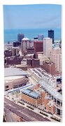 Aerial View Of Jacobs Field, Cleveland Bath Towel