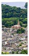 Aerial View Of Keswick In The Lake District Cumbria Bath Towel