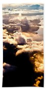 Aerial View Of Pacific Coast Of Bc Canada Bath Towel