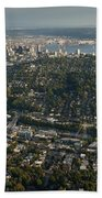 Aerial View Of Seattle Bath Towel