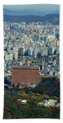 Aerial View Of Seoul South Korea Bath Towel