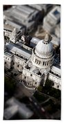 Aerial View Of St Pauls Cathedral Bath Towel