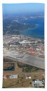 Aerial View Of Tampa And St. Petersburg Bath Towel