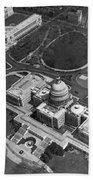 Aerial View Of U.s. Capitol Bath Towel