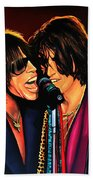Aerosmith Toxic Twins Painting Bath Towel
