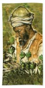 Afghani Harvest - Watercolor Bath Towel