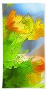 African Daisy I - Digital Paint Bath Towel