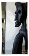 African Statue Reflection Bath Towel