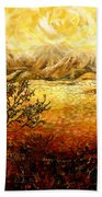 African Sunset Bath Towel