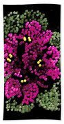 African Violets Bedazzled Bath Towel