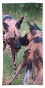 African Wild Dogs Bath Towel