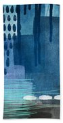 After Rain- Contemporary Abstract Painting  Bath Towel