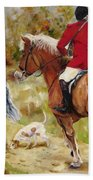 After The Hunt Hand Towel by Diane Kraudelt