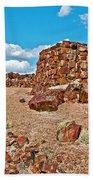 Agate House In Petrified Forest National Park-arizona  Bath Towel