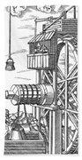 Agricola Water Pump, 1556 Hand Towel