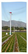 Agricultural Windmills Bath Towel
