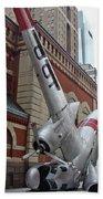 Airplane Sculpture In Philadelphia Pa - Navy S2f Bath Towel