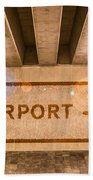 Airport Directions Bath Towel