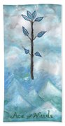 Airy Ace Of Wands Bath Towel