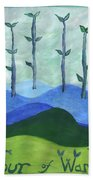 Airy Four Of Wands Bath Towel