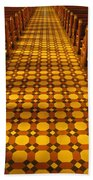 Church Aisle Patterned Floor Bath Towel