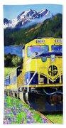 Alaska Railroad Hand Towel