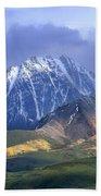 Alaska Range And Foothills Denali Bath Towel