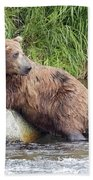 Alaskan Grizzly Bath Towel
