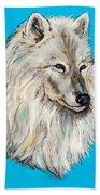 Alaskan White Wolf Original Forsale Bath Towel