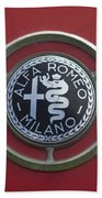 1961 Alfa Romeo Giulietta Sprint Veloce Series II Emblem -1045c Bath Towel