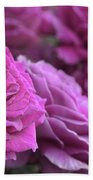 All The Violet Roses Bath Towel