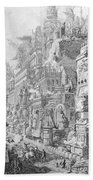 Allegorical Frontispiece Of Rome And Its History From Le Antichita Romane  Bath Towel