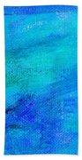 Allegory Blue Bath Towel