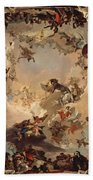 Allegory Of The Planets And Continents Bath Towel